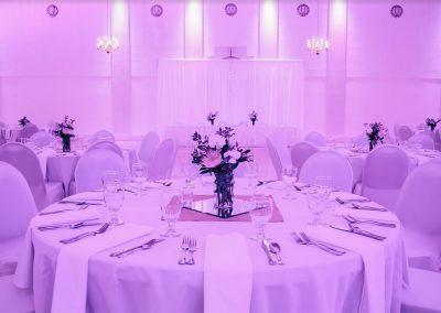 The Melody Ballroom with Purple Hue