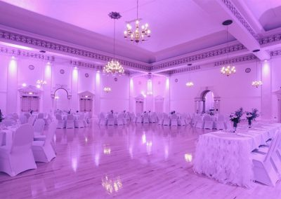 The Melody Ballroom with Purple Hue
